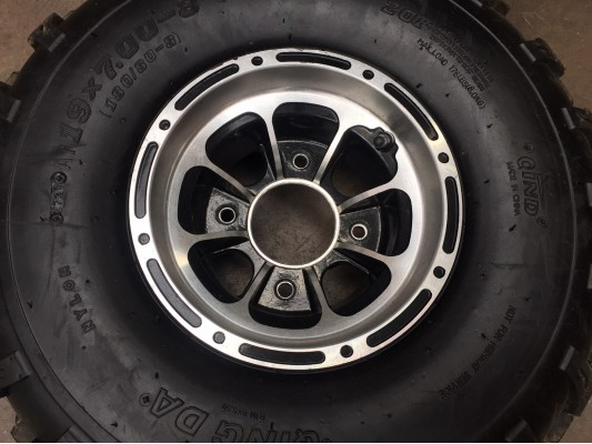 """Ripster  200cc Front 8x5.5"""" Alloy Wheel"""