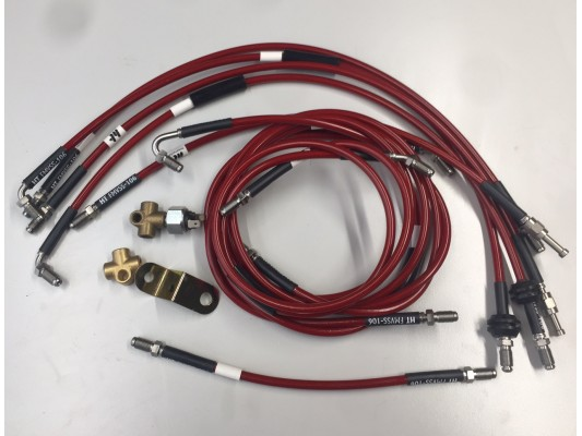 Brake lines Kit Stainless Braided
