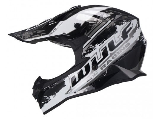 Adult Off Road Pro Moto-X Helmet WULF BLACK