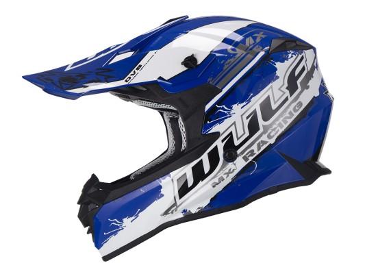 Adult Off Road Pro Moto-X Helmet WULF BLUE