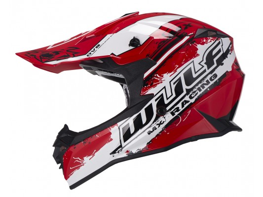 Adult Off Road Pro Moto-X Helmet WULF RED
