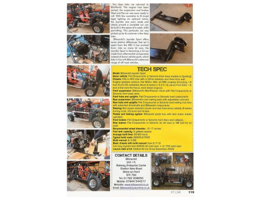 Kit Car - Joyrider Article July 2010