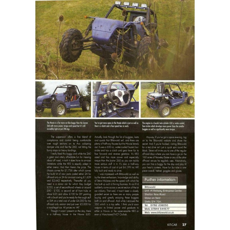 Kit Car Magazine 6 Page Editorial