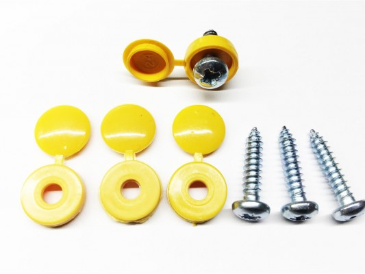 Number plate screws Yellow