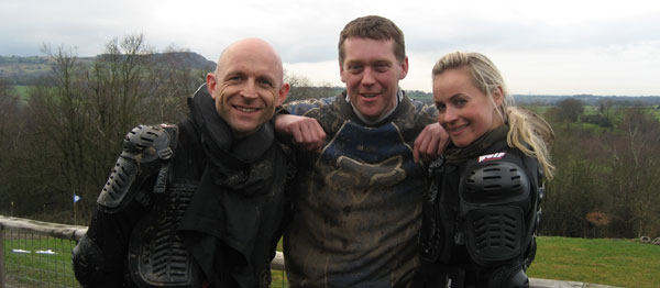 Steve Malpass with Jason and Polly from The Gadget Show